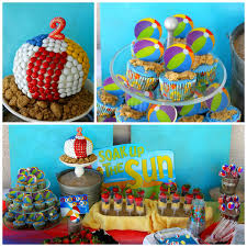 Beach Ball Cake Decorations Inspiration Kara's Party Ideas Beach Ball Birthday Party Supplies Planning Ideas