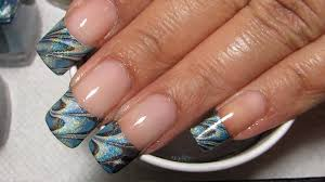 French Tip | Water Marble March 2013 #7 | DIY Nail Art Tutorial ...