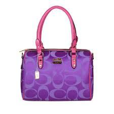 Coach Madison Logo Medium Purple Luggage Bags DKG