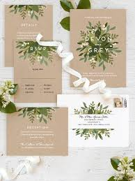 laurel green wedding invites perfect for a boho chic wedding from Formal Rustic Wedding Invitations laurel green wedding invites perfect for a boho chic wedding from @minted Country Wedding Invitations