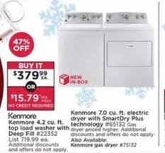 kenmore 65132. kenmore 4.2 cu. ft. top load washer w/ deep fill 65132