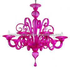 goldoni 8 lights murano glass chandelier color fuchsia