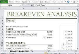 excel financial analysis template how to easily create breakeven analysis in excel excel templates