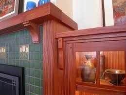 craftsman fireplace mantel spaces traditional with arts and crafts bookcase1 image by david getts designer builder inc
