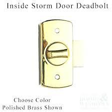 M Pella Storm Door Replacement Parts Lowes Handles Surface Mount  Deadbolt Locks Inside