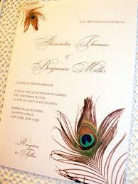 Peacock Invitations Custom Listing Peacock Feather Wedding Invitations Deposit