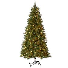Holiday Living 7.5-ft 819-Count Pre-Lit Lawndale Full Artificial Christmas  Tree