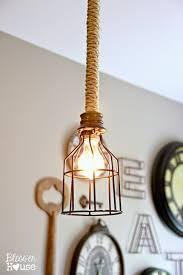lighting nautical rope pendant light chandelier kit lamps cord diy led industrial for under blesser
