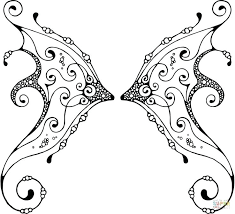 erfly wings coloring pages super as well skull with printable wing