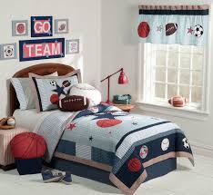 bedroom design for boys. cute and colorful little boy bedroom ideas: red white blue sporting themed boys room design for n