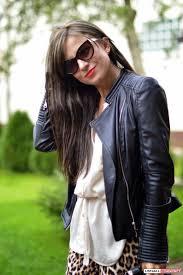 bnwt zara trafaluc faux leather moto biker jacket