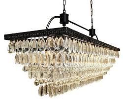 the weston inch rectangular glass drop crystal chandelier