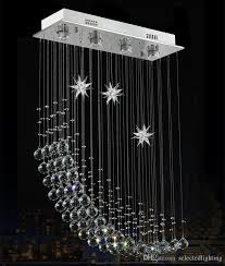 contemporary modern crystal rain drop chandelier lighting flush mount led ceiling bathroom fixtures pendant lamp for living dining l 23 5 teardrop