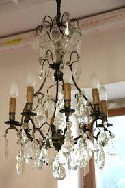 french vintage chandelier 8 arm crystal cage antique chandeliers for