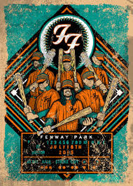 Fenway Seating Chart Foo Fighters Pin By Robert Higgins On Posters I Like Foo Fighters