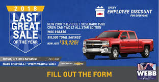 Chevrolet Silverado Sales Event | Webb Chevrolet