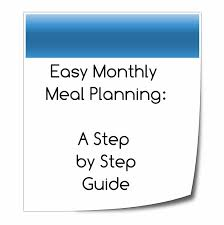 monthly planning guide monthly meal planning guide supernovawife super nova adventures