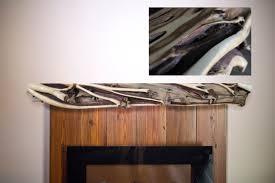rustic juniper fireplace mantel littlebranch farm