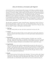 best photos of formal introduction paper example informal letter how to write formal lab report
