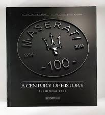 maserati car manuals literature maserati centennial book 1914 2014 100 years of history modena nada rare vgc