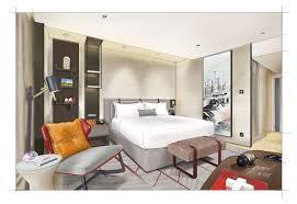 Sketchbook Pro Interior Design Rendering Of New Swissotel Guestroom On Wacom 13hd Cintiq