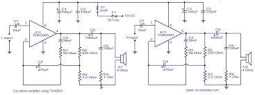 car amp circuit diagram wirdig car audio speaker wiring on 4 channel car amplifier wiring diagram