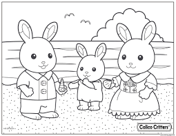 Calico Critters Beach Shell Coloring Pages Printable