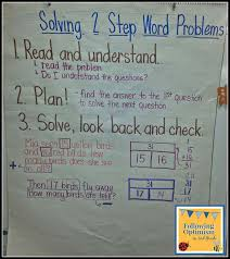 two step word problems anchor chart