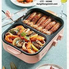 Bếp Nấu Điện 2 Ngăn Đa Năng BEAR DKL-C12D1   Bếp Nướng & Lẩu 2 Trong 1