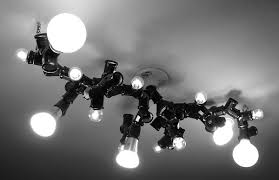 recreate light bulb chandelier with this diy