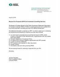Investment Consulting Services Rfp Colorado Pera
