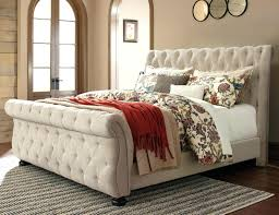 king sleigh bed frame signature design by king upholstered sleigh bed with  tufting super king sleigh