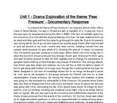 unit drama exploration of the theme peer pressure  document image preview
