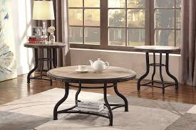 3 pc coffee end table set rustic grey wood