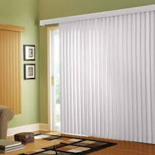 white vertical blinds for sliding glass doors