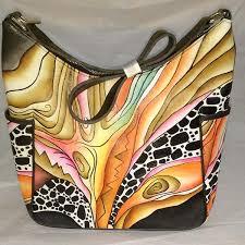 hpsb02 hand painted leather handbag hpsb02