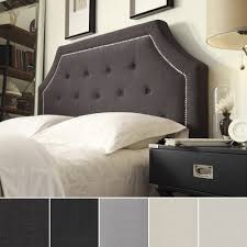 Grace Button Tufted Arched Bridge King-sized Headboard by iNSPIRE Q Bold -  Free Shipping Today - Overstock.com - 16672234
