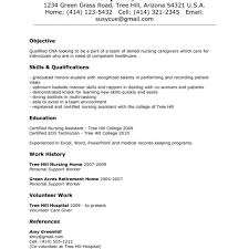 Sample Resume For Nursing Assistant Positio Photo Gallery For