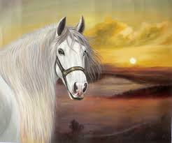 animal oil painting art horse by hongtao art