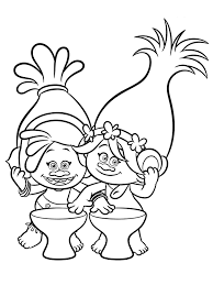Small Picture Trolls Coloring pages to download and print for free Colouring