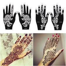 2 шткомпл профессиональный трафарет для татуировки хной временного руке