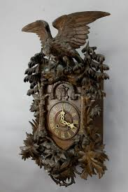 best wood carving clock images cuckoo clocks a rare antique black forest cuckoo clock eagle ca 1900