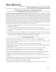 Entry Level Financial Analyst Job Description Resume Cover