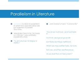 parallelism literary devices ppt  4 parallelism in literature