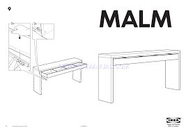 Ikea Instruction Manuals Ikea Tables Malm Dressing Table 75x17 Assembly Instruction
