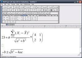 ideally you would use a complementary program to create equations and insert them in your doents view full description