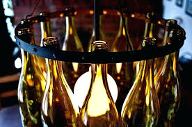 recycled wine bottle chandelier la saga araaa decoracian con botellas saga chandeliers and wine bottle