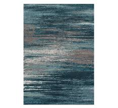 picture of modern teal accent rug