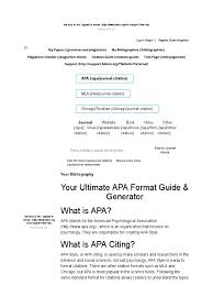 Apa Format Apa Citation I Bibme Citation Apa Style