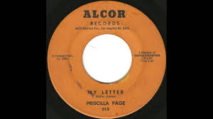 Priscilla Page - My Letter - Rare Mid-Tempo Girl Group - YouTube